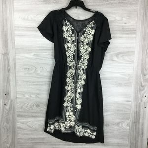 Maurice's Black Floral Dress Romper